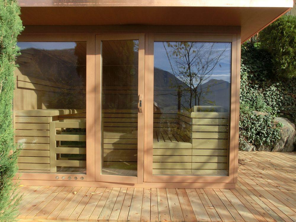 sauna schaller aussensauna aus sudtirol With französischer balkon mit finnische sauna für den garten